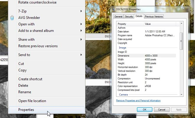 right click on any image file to get pixel dimensions on a PC