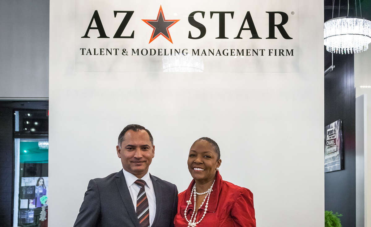 Complete Identity Branding, not just professional color printing, for AZ STAR talent agency