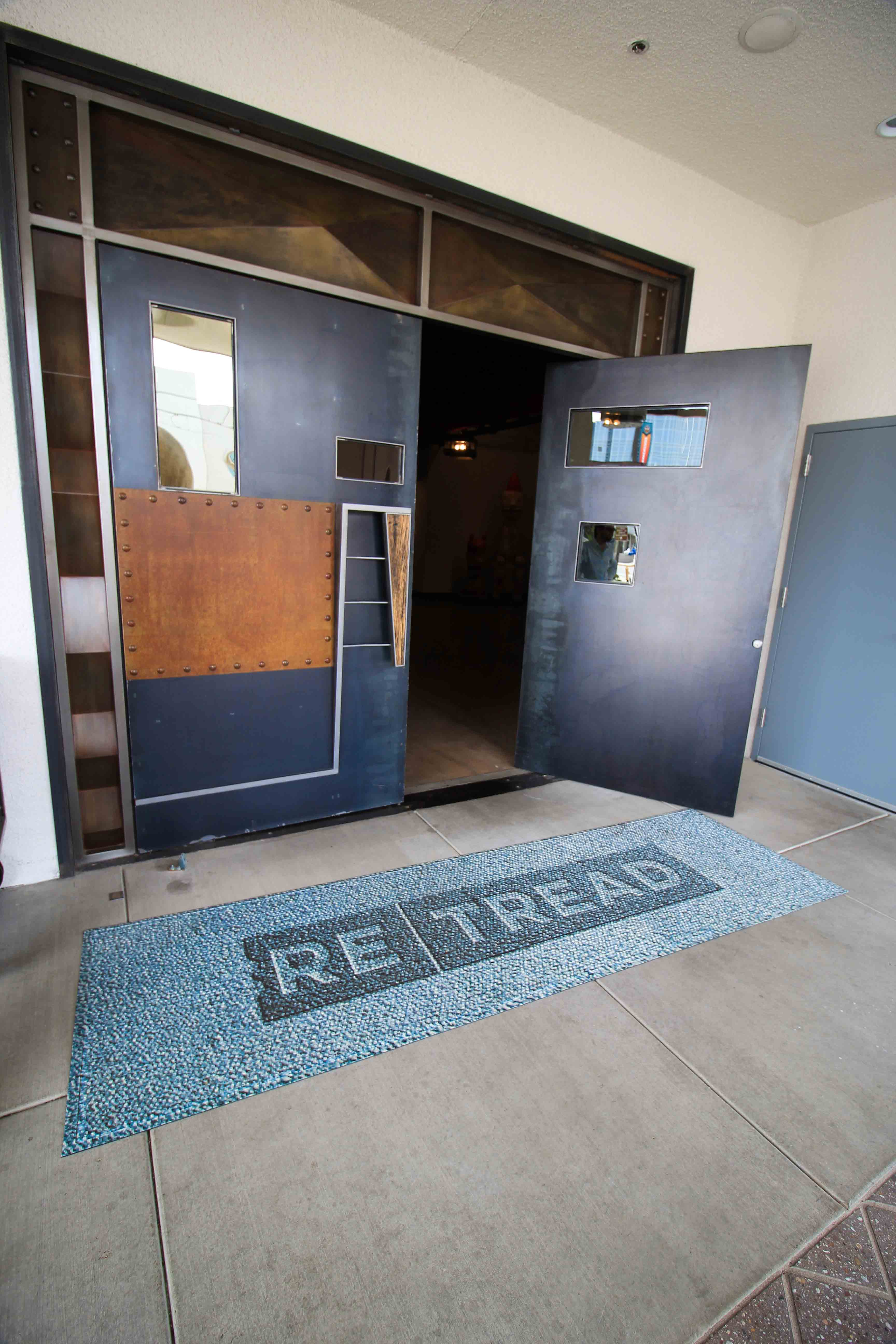 Custom Hotel Gallery Art at FOUND:RE Entrance