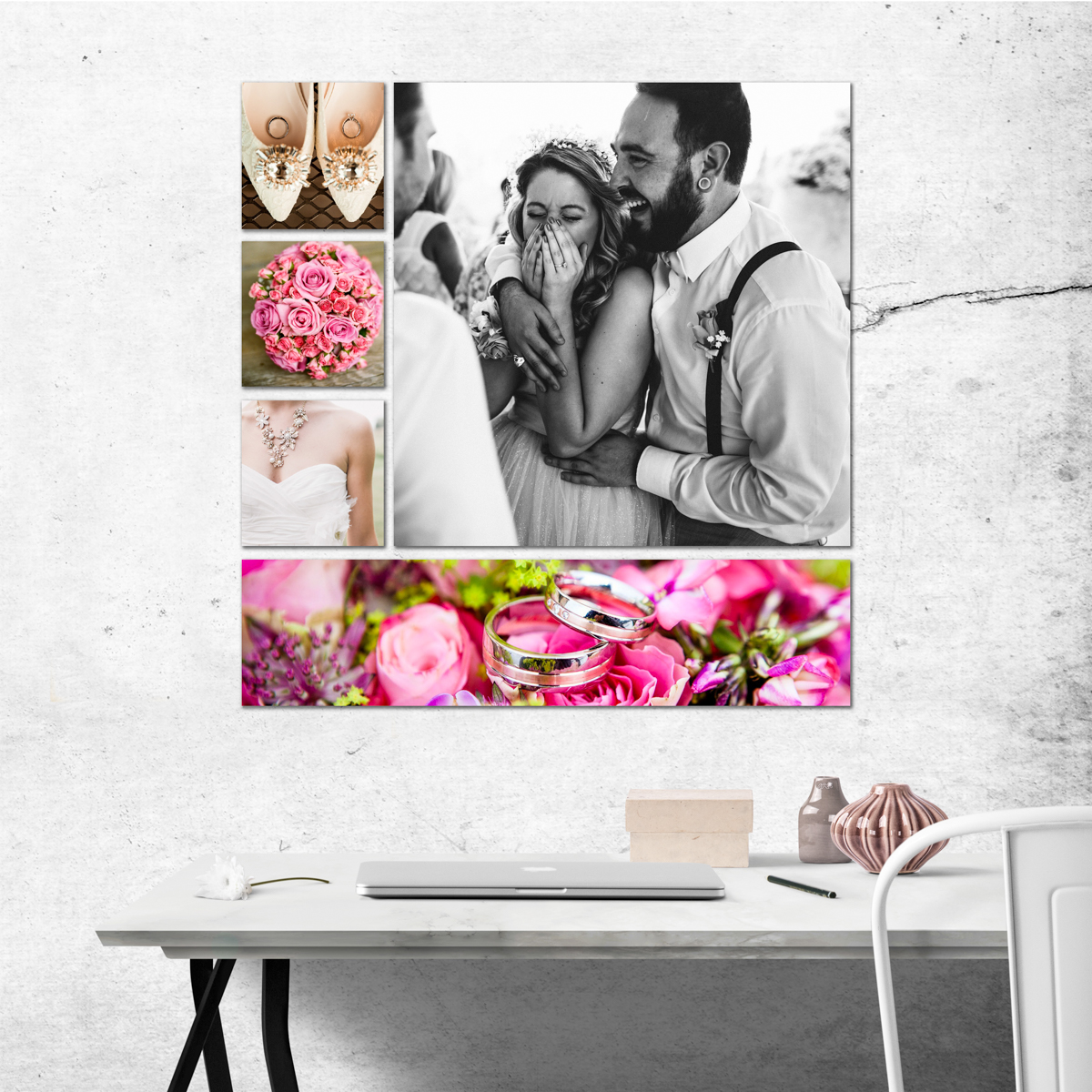 ArtisanHD Wall Art Gallery Clusters and Splits Wall Art Collage - great idea for custom photo gifts