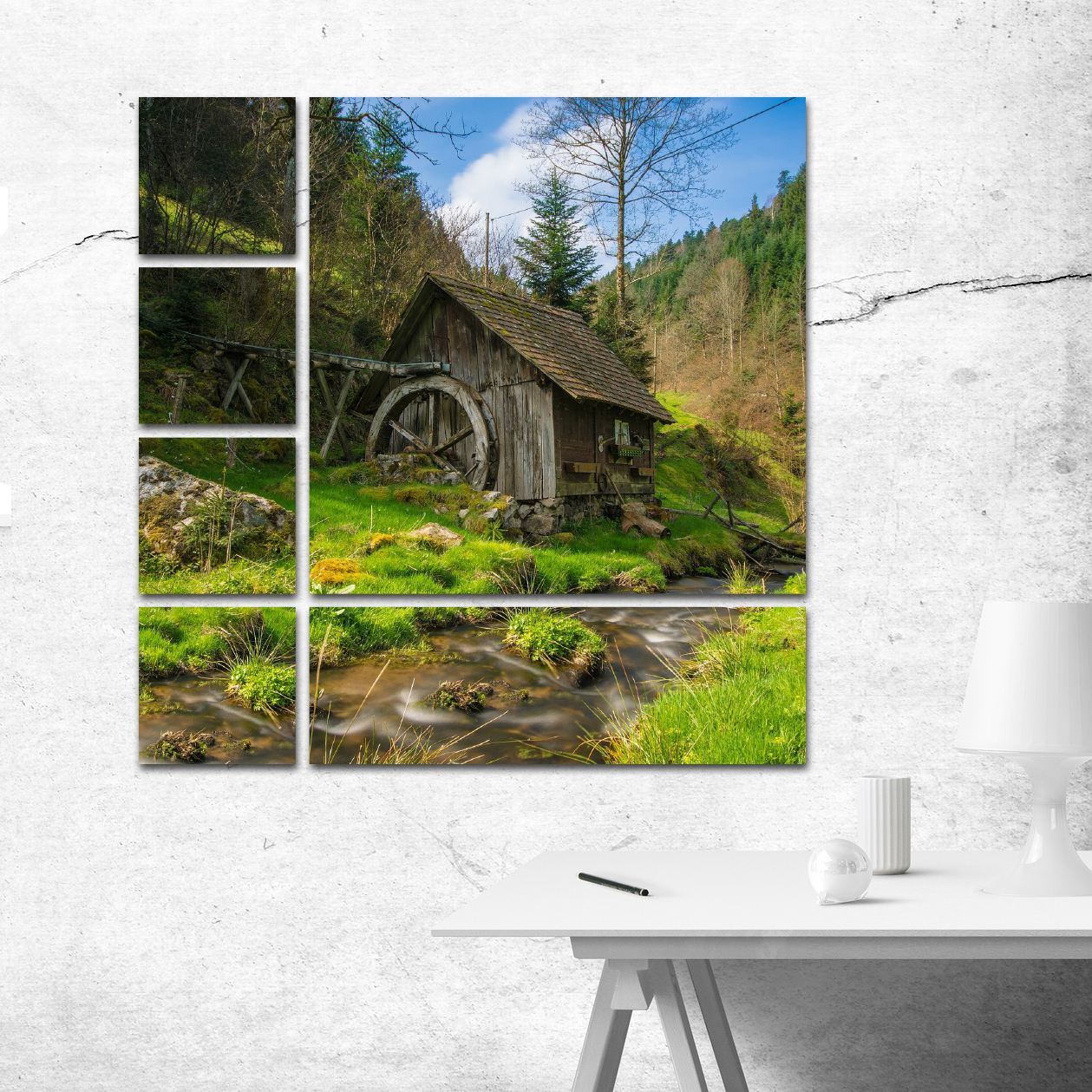 Wall Clusters and Splits custom photo prints example from ArtisanHD