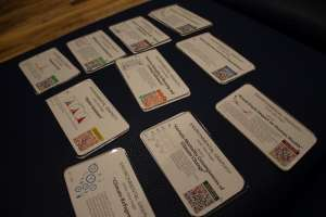 Description cards for extra large printing canvas' by Alisa Singer for UCI