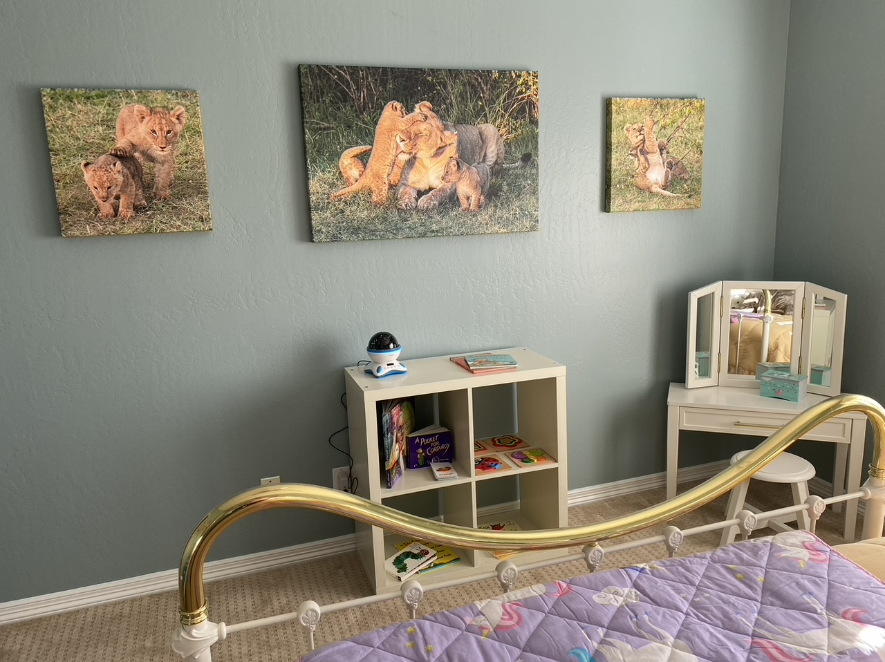 Semi gloss Canvas Lindsley Project cubs in Kenya 1